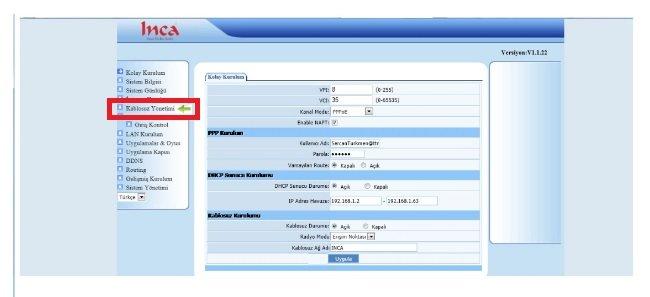 INCA IM-214NX Modem Kurulumu Resimli Anlatım, ınca ım-214nx arayüz şifresi, ınca ım-214nx kablosuz ayarı, ınca ım-214nx kablosuz modem kurulumu, ınca ım-214nx modem ayarı, ınca ım-214nx modem kurulumu