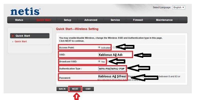 Netis DL4322 Modem Kurulumu Resimli Anlatım, Netis DL4322 Kablosuz modem kurulumu, Netis DL4322 Modem Ayarı, Netis DL4322 Kablosuz ayarı