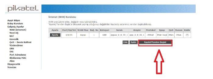 Pikatel Combomax Modem Kurulumu Resimli Anlatım, Pikatel Combomax Modem ayarları, Pikatel Combomax Modem Şifresi, Pikatel Combomax Modem Sorunu