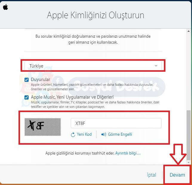 apple kimliği nasıl oluşturulur, apple kimliği oluşturma, Apple Kimliği Oluşturma Resimli Anlatım, icloud kimliği, icloud kimliği al, iphone kimliği alma