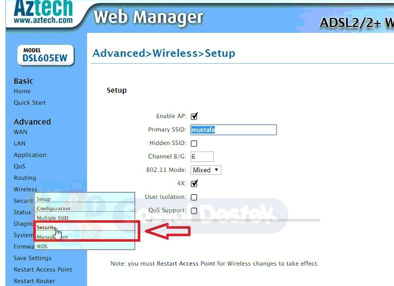aztech dsl605ew kablosuz ağ ayarları, aztech dsl605ew kablosuz modem kurulumu, Aztech DSL605EW Modem Kurulum Resimli Anlatım, aztech dsl605ew modem kurulumu, aztech modem kurulumu, dsl605ew