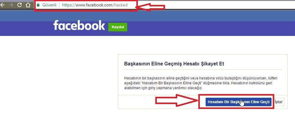 facebook şifre öğrenme resimli anlatım