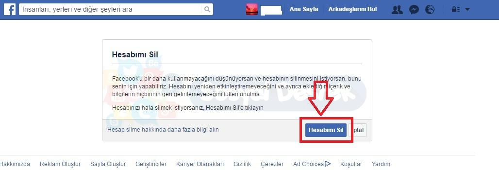 facebook hesabını kapatamıyorum, facebook hesabını silemiyorum, facebook hesabını silme, Facebook Hesabını Silme Resimli Anlatım, facebookumu kapatmak istiyorum, facebookumu silmek istiyorum, hesabımı silemiyorum, hesap silme linki
