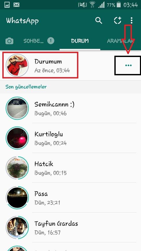 durum gizlilik ayarları, durum güncellemesi ekleme, durum güncellemesini birine göndermek, durum güncellemesini silmek, durumuma bakanlar gözükmüyor, whatsapp profile bakanları görme, whatsappta hikaye nasıl yapılır, WhatsApp Durum Özelliği Nasıl Kullanılır