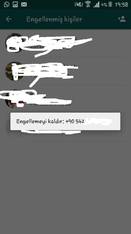 whatsapp engellenenleri görme, Whatsapp Engellendiğimi Nasıl Anlarım Resimli Anlatım, whatsapp engelleme, whatsapp engel kaldırma, whatsapp engelden kurtulma, whatsapp engelden çıkarma, whatsapp engellenen kişiyi geri alma, numara engellini kaldırma