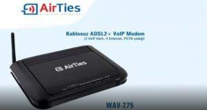 AirTies WAV 275 Modem Kurulumu Resimli Anlatım
