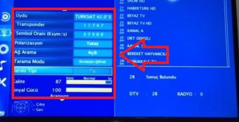 beko tv kanal ayarı, beko frekans ayarları, arçelik kanal ayarı, beko tv kurulumu, Beko Arçelik TURKSAT 4A Uydu Kanal Ayarları, beko tv uydu ayarı, arçelik tv uydu kurulumu
