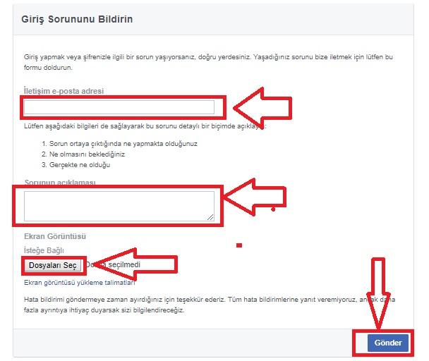 Facebook Sorun Bildirme Nasıl Yapılır Resimli Anlatım, facebook sorun bildirme numarası, facebook güvenlik açığı bildirme, facebook hata veriyor, facebook neden açılmıyor,facebook sorun var giremiyorum