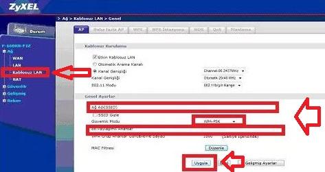 ZyXEL P 660 HN Modem Kurulumu Resimli Anlatım, zyxel p660hn, zyxel p660hn modem ayarı, zyxel p660hn kablosuz ayarı, zyxel p660hn kanal ayarı, zyxel p660hn kablosuz modem kurulumu