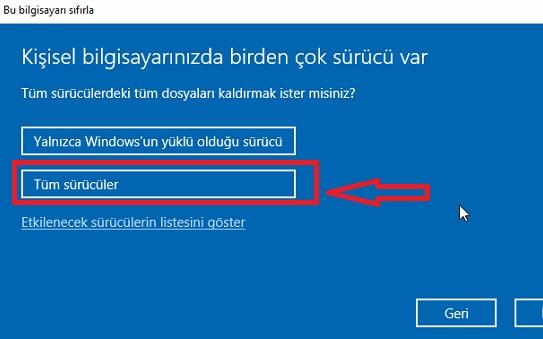 Windows 10 Sıfırlama Nasıl Yapılır Resimli Anlatım, bilgisayarı sıfırlama windows 10, bilgisayarı sıfırlama resimli anlatım, bilgisayara format atma, bilgisayarı fabrika ayarları döndürme, windows 10 format atma