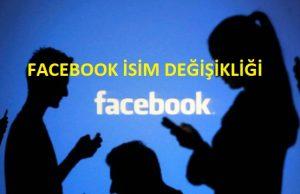 Facebook ismimi Nasıl Değiştiririm Resimli Anlatım