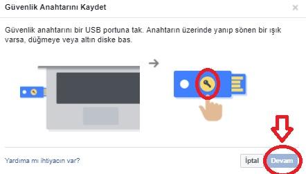 Facebook Güvenlik Anahtarı Ekle Resimli Anlatım, facebook anahtar ekle, facebook güvenlik anahtarı, facebook usb portu, facebook yayın anahtarı, güvenlik anahtarı ekle, facebook hesabını koruma