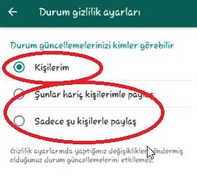 Whatsapp Durumu Gizleme Ayarları Nasıl Yapılır, durumu gizleme, hikaye gizleme, whatsapp hikaye gizleme, whatsapp hakkımda gizleme, durumu herkese açık yapma
