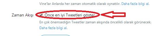 Twitter Zaman Akışı Ayarı Tweet öne Cıkarma, tweet öne çıkarma, en iyi tweet , tweet başa getirme, twitter zaman ayarı, tweet öne çıkarma açma, yazıyı öne çıkarma