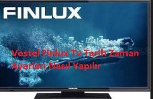 Vestel Finlux Tv Tarih Zaman Ayarları Nasıl Yapılır