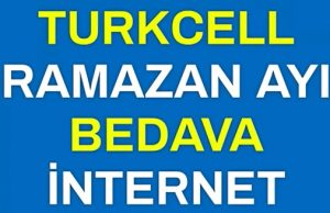 Turkcell ramazan ile sahurda bedava internet 2018
