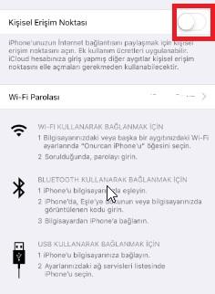 iPhone telefonumda internet paylaşımı olmuyor, iphone telefonumdan internet paylaşılmıyor, telefondan telefona internet çekme, iphone hotspot sorunu, iphone internet paylaşamıyorum, iphone internet paylaşılmıyor