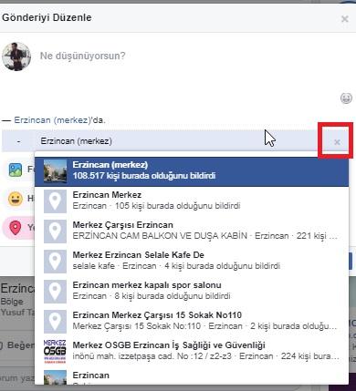 Facebook gönderideki konumu kaldıramıyorum, konumu kaldıramıyorum, konumu silemiyorum, facebook konum silme, facebook konumu kaldırma, facebook konum silinmiyor