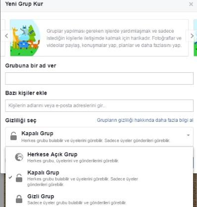 Facebook grup kuramıyorum açamıyorum, facebook grup kur, facebook grup açma, facebook grup kurma, facebook kapalı grup açma, facebook gizli grup açma