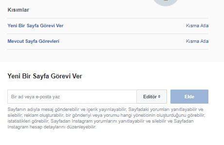 Facebook sayfamda birine görev veremiyorum, facebook sayfama editör ekleme, facebook sayfama admin ekleme, facebook sayfamda birine görev verme, sayfama editör ekleme, facebook sayfamda görev verilmiyor
