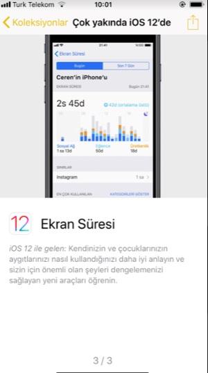 iOS 12 ile gelen yenilikler nelerdir nasıl kullanılır, ios 12, ios 12 nasıl kullanılır, iphone ekran süresi, iphone gruplanmış bildirimler, iphone yeni güncelleme