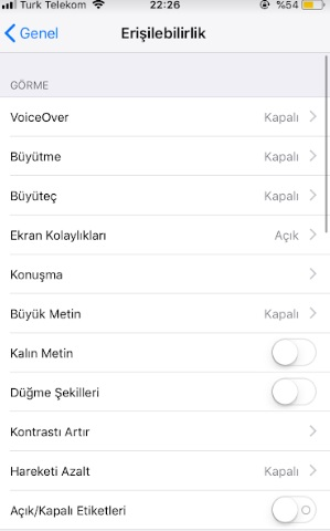 iphone görme engelli modu açamıyorum, iphone voice over açma, ipone engelli modu açma, iphone klayve bildirim sesi açma, iphone voice over, iphone görme engelli modu açma