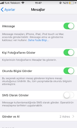 iphone normal mesaj atamıyorum imessage gidiyor, iphone imessage kapatma, imessage kapatma, imessage mesajını kapatma, iphone mesaj gitmiyor, iphone normal mesaj gönderme