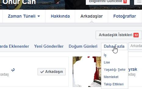 facebook takip nasıl görürüz