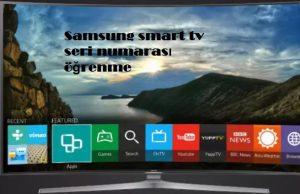 Samsung smart tv seri numarası öğrenme