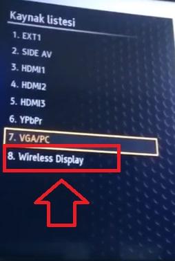 Vestel smart tv wireless display gözükmüyor çıkmıyor, telefon ekranını vestel smart tv ye aktarma, smart tv wireless display yok, vestel smart tv wireless display nerede, vestel smart tv wireless display bulamıyorum, telefonu vestel smart tv ye aktarma