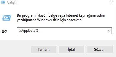 Windows 10 Appdata klasörü açılmıyor, appdata açılmıyor, appdata nerede, appdata gözükmüyor, windows 10 appdata nerede, windows 10 appdata girme