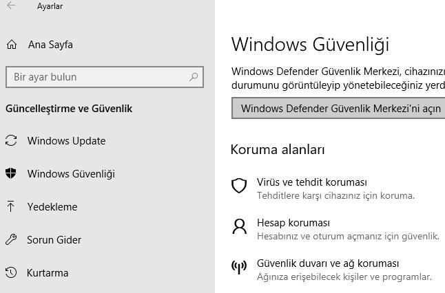 Windows 10 virüsten koruma açılmıyor, windows virüsten korumayı açma, bilgisayarıma virüs bulaşmasın, bilgisayarımı korumak istiyorum, bilgisayarı korumaya alma, windows 10 virüsten koruma nasıl açılır