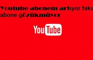 Youtube abonem artıyor fakat abone gözükmüyor