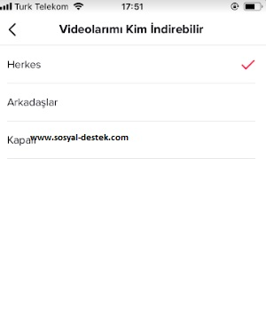 Tik tok videolarımı kimse indirmesin, tik tok videom indirilmesin, tik tok video inmesin, tik tok videom inmesin, tik tok video indirmeyi engelleme, tik tok video indirme engeli