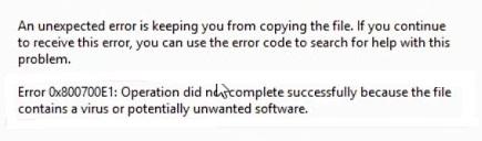 Windows 10 dosya kopyalanmıyor, hata 0x800700e1 alıyorum, hata kodu 0x800700e1, windows dosya kopyalanmıyor, bilgisayar dosya kopyalanmıyor, windows 10 0x800700e1 hatası