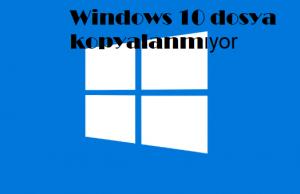 Windows 10 dosya kopyalanmıyor