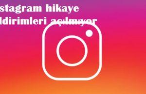 instagram hikaye bildirimleri açılmıyor