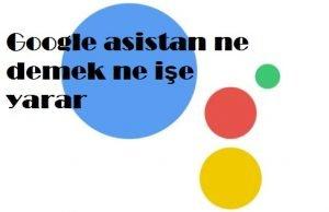 Google asistan ne demek ne işe yarar