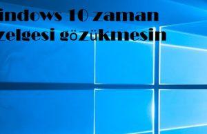 Windows 10 zaman çizelgesi gözükmesin