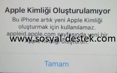 Apple kimliği oluşturulamıyor açmıyor, apple kimlik hatası, apple kimlik oluşturma, apple kimliği oluşturulamıyor, apple kimliği neden oluşmuyor, apple kimlik uyarısı alıyorum