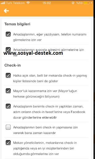 Swarm check in yaptığım görünmesin çıkmasın, swarm check in yaptığım çıkmasın, swarm check in gizleme, swarm check in gizlenmiyor, swarm check in nasıl gizlenir, swarm check in gizli