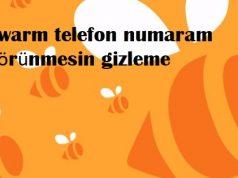 Swarm telefon numaram görünmesin gizleme