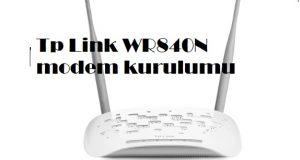 Tp Link WR840N modem kurulumu