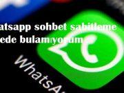 Whatsapp sohbet sabitleme nerede bulamıyorum