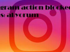 instagram action blocked uyarısı alıyorum
