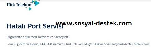 Türk Telekom hatalı port servisi hatası geliyor, turk telekom hatası port diyor, turk telekom port hatası, hatalı port servisi, hatalı port yazısı kalkmıyor, turk telekom port uyarısı gitmiyor