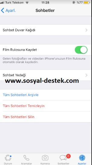 WhatsApp silme iPhone