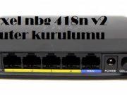 Zyxel nbg 418n v2 router kurulumu