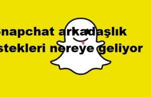 Snapchat arkadaşlık istekleri nereye geliyor