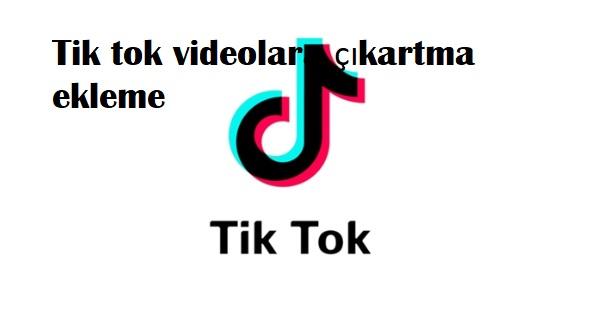 Tik tok videolara çıkartma ekleme